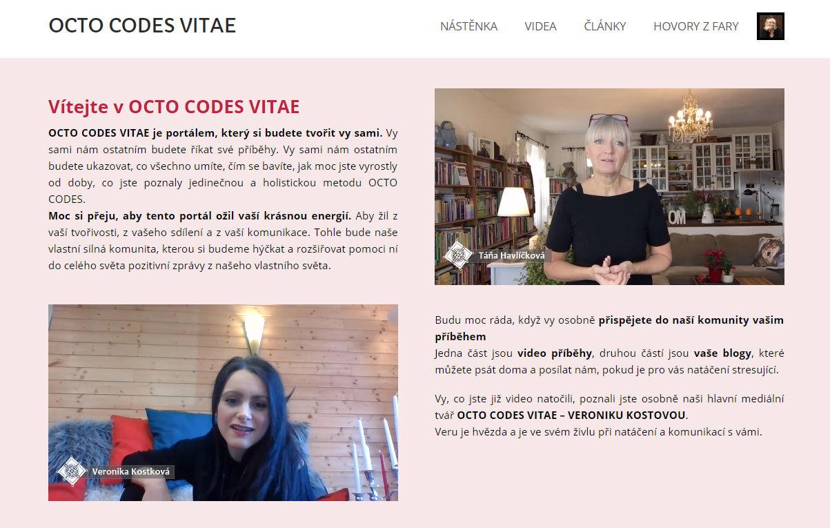 Táňa Havlíčková OCTO CODES VITAE